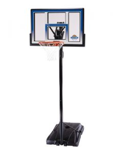 Lifetime 51550 Courtside Height Adjustable Portable Basketball System, 48 Inch Shatterproof Backboard